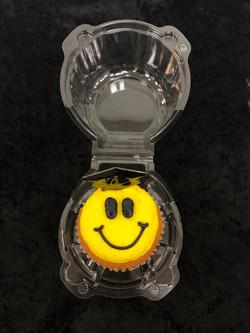 Grad Happy Face Cupcake