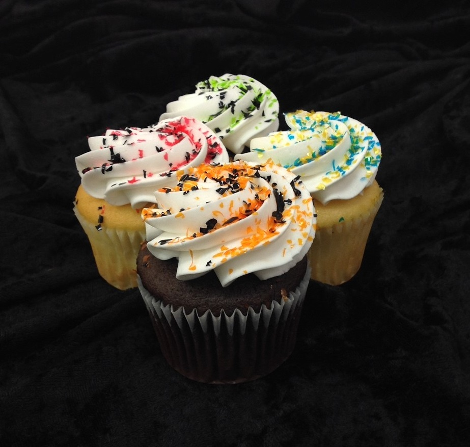School Color Sprinkle Cupcakes