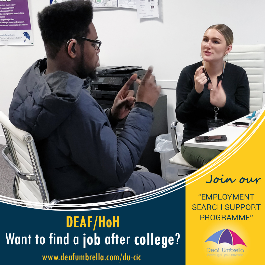 Job club for Deaf/HoH students