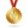 Awarded top 50 deaf blog, youtube, channel, British Sign Language Interpreters Deaf Support London and South East