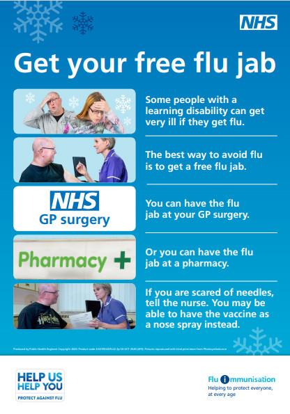 Flu - Easy read poster