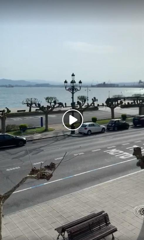 Santander city during coronavirus