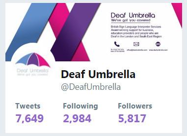 Deaf Umbrella Twitter page