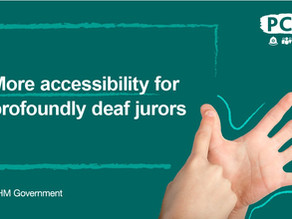 More accessibility for profoundly deaf jurors announced