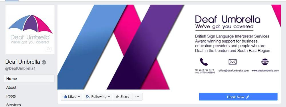 Deaf Umbrella Facebook page