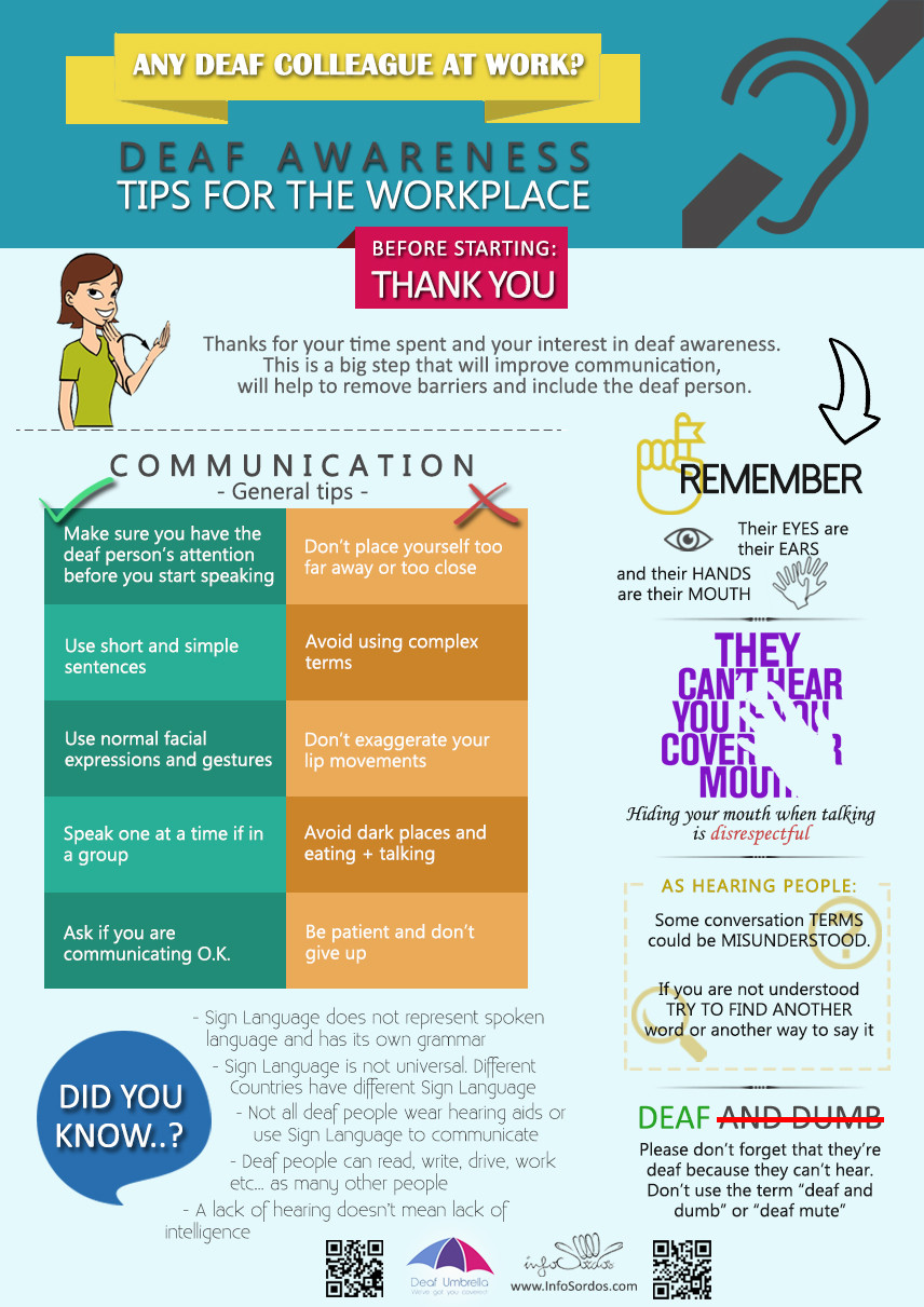 Do's and dont's of good communication with a deaf person