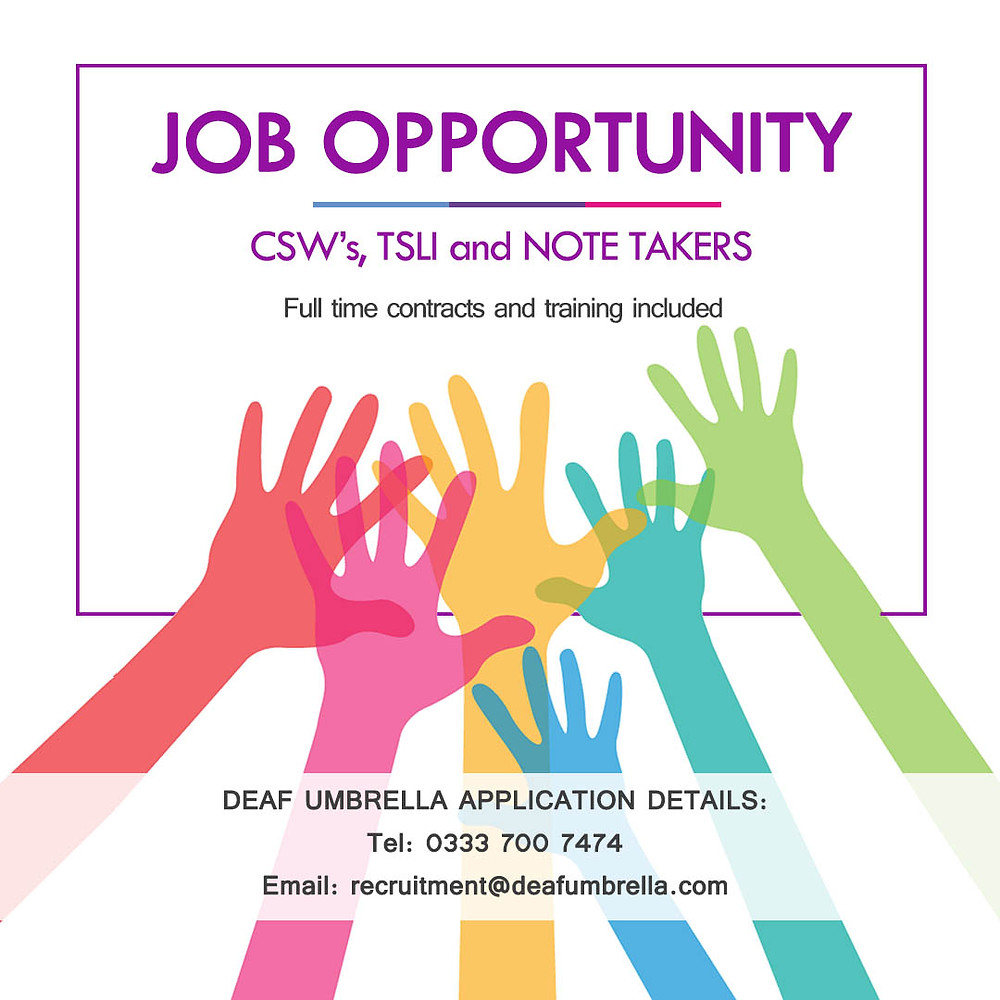 job opportunity deaf umbrella deaf interpreter