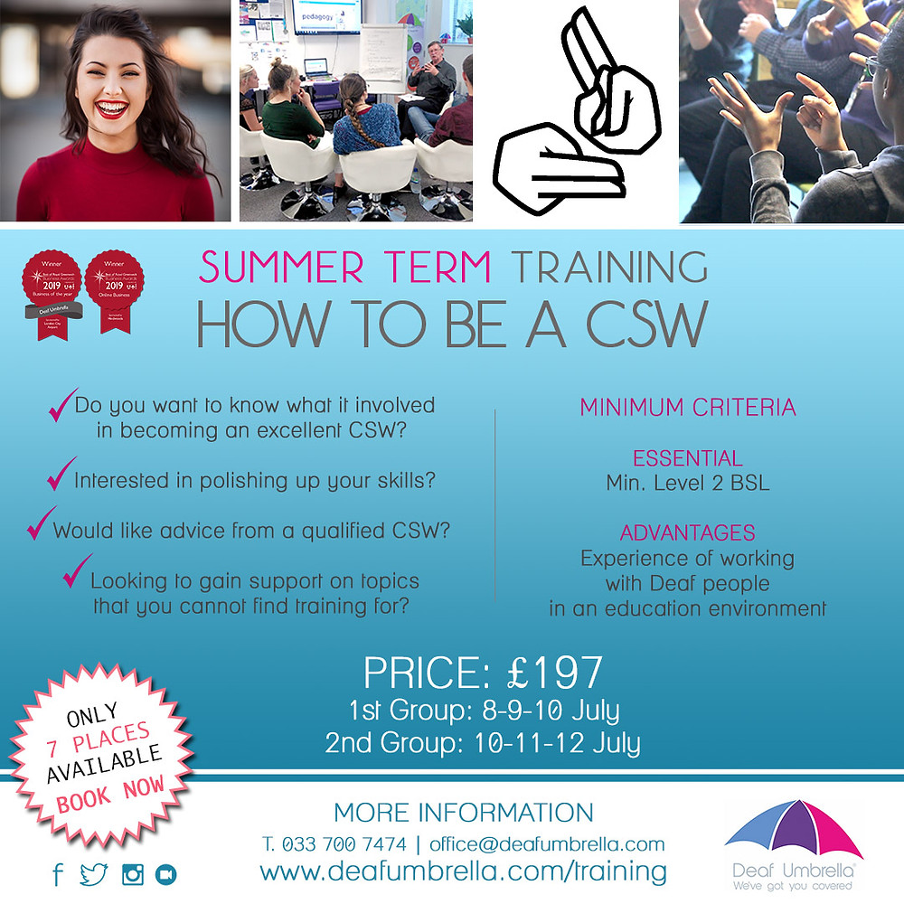 How to be a CSW training course - by Deaf Umbrella