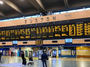 Euston station; the first railway station to provide BSL screens