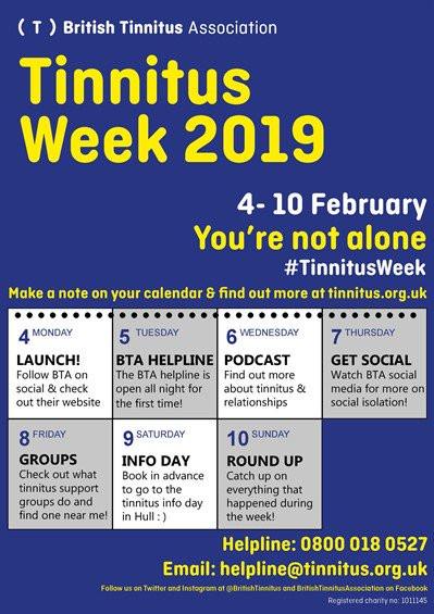 Tinnitus Week 2019 - British Tinnitus Associacion