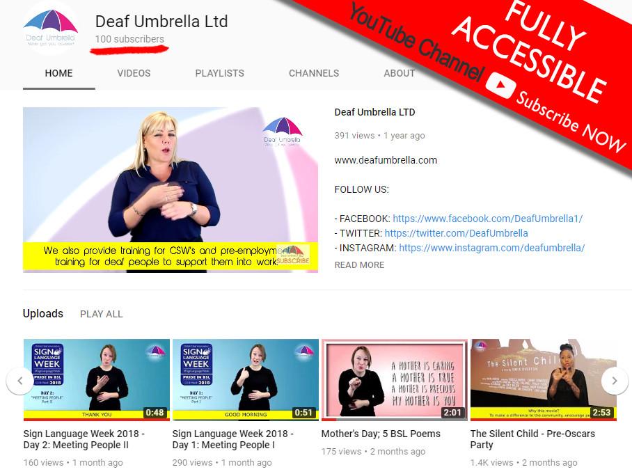 Deaf Umbrella YouTube channel