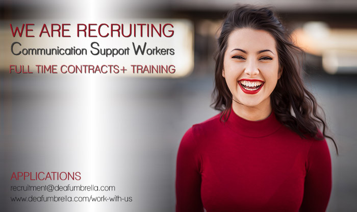 job opportunity deaf umbrella deaf interpreter