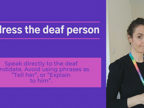 The before, during and after!  For a truly successful job interview with a d/Deaf person, read on