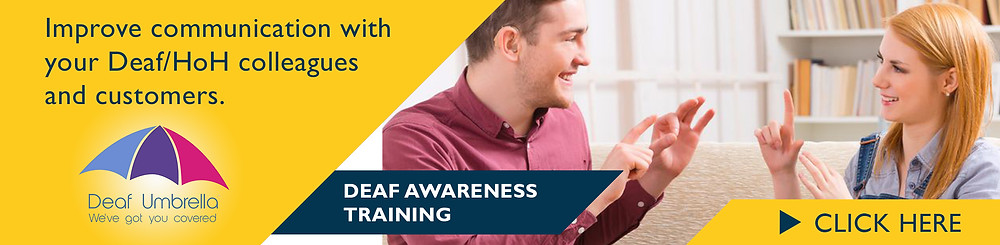 Deaf Awareness Training for business by Deaf Umbrella