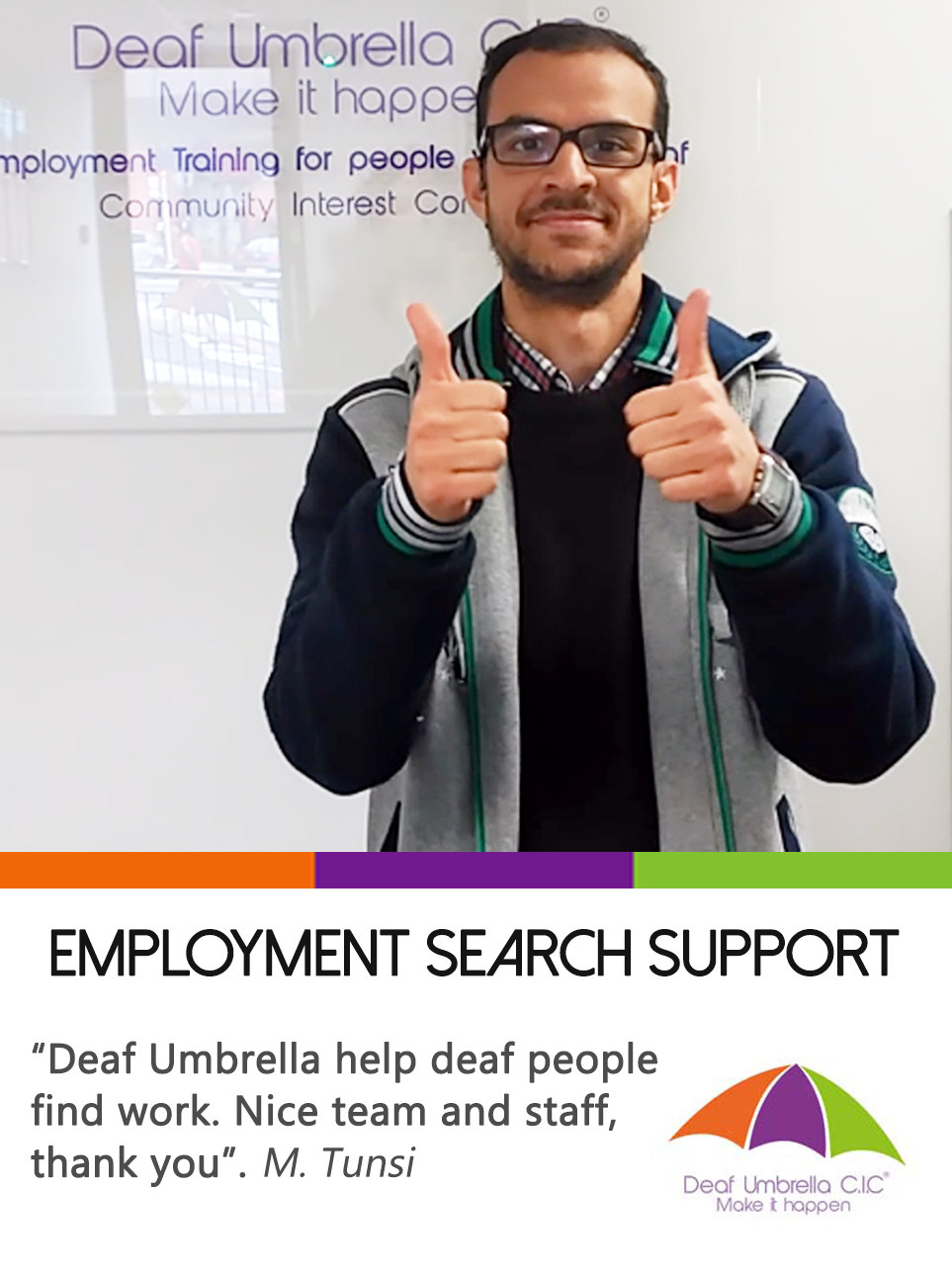 Job Club for Deaf and Hard of Hearing people by Deaf Umbrella