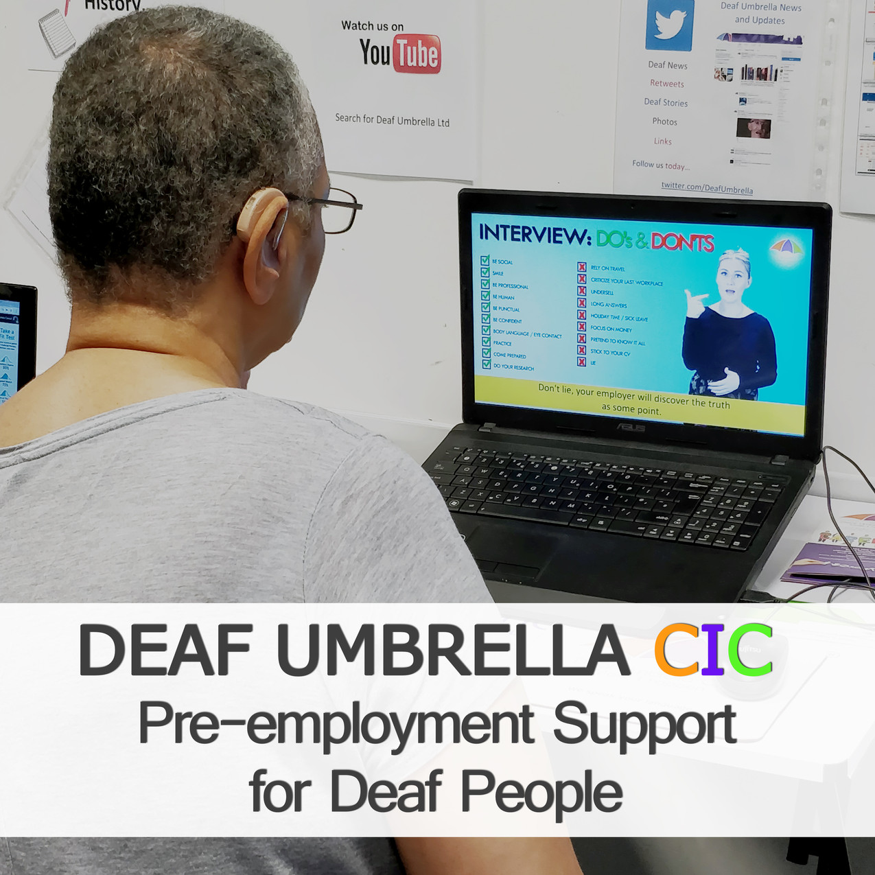 Job club for Deaf/HoH people