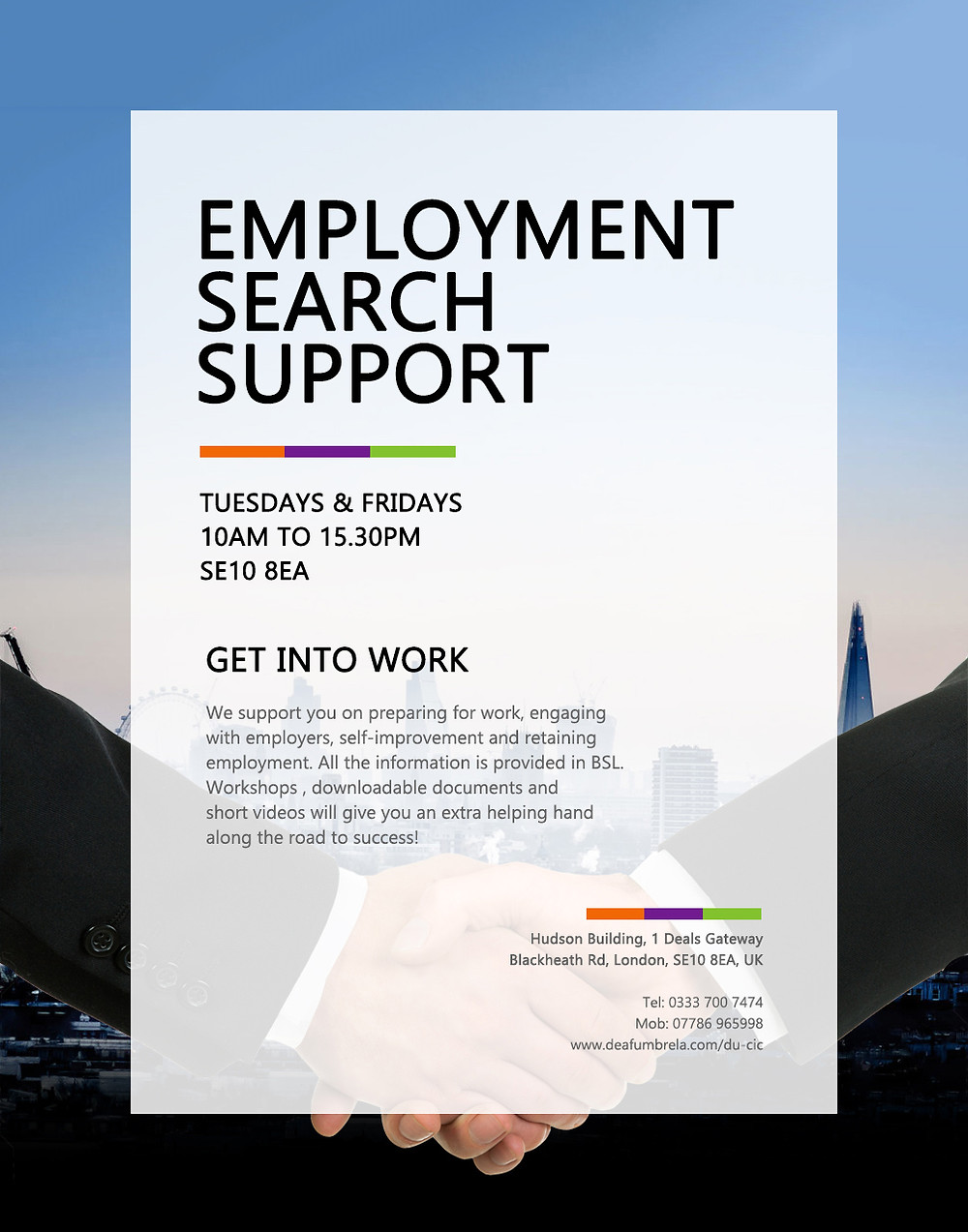 employment search support for deaf people
