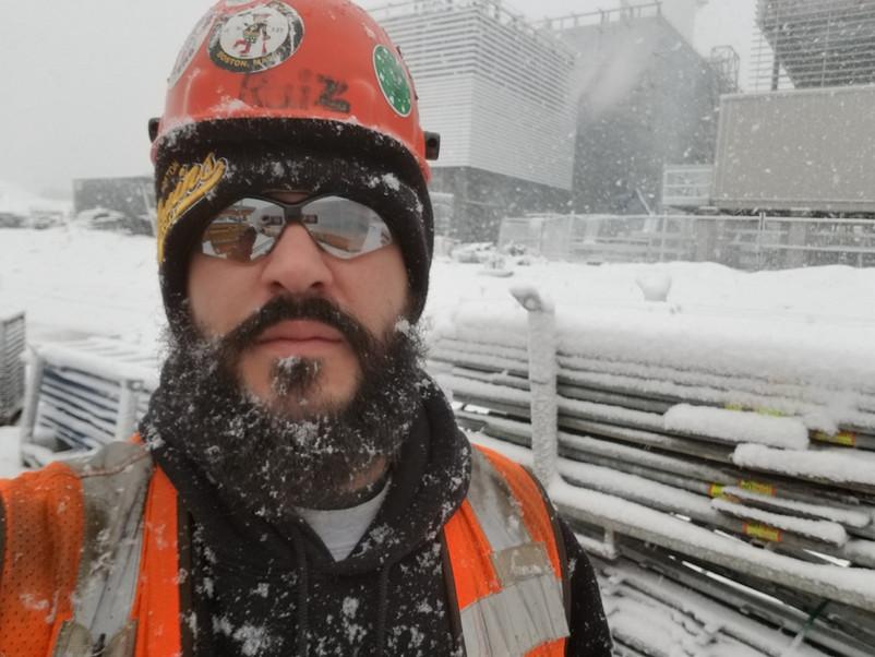 Member Ryan Ruiz in the snow