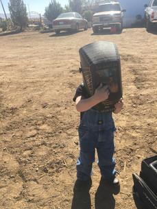 Little welder in training