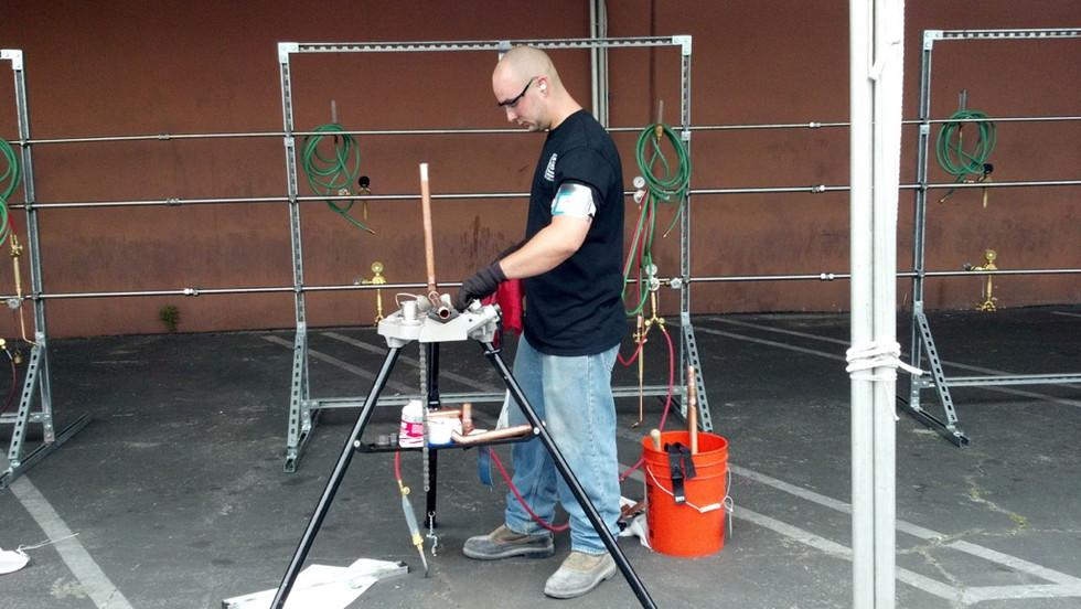 Member Adam Hall at the Apprenticeship Contest 2012