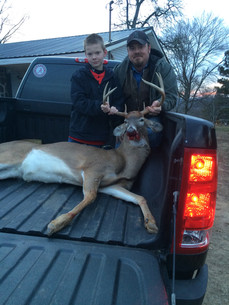 Member Jeremy Slayton and his son on their day off