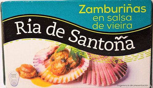 ZAMBURIÑAS EN SALSA DE VIEIRA 120GR