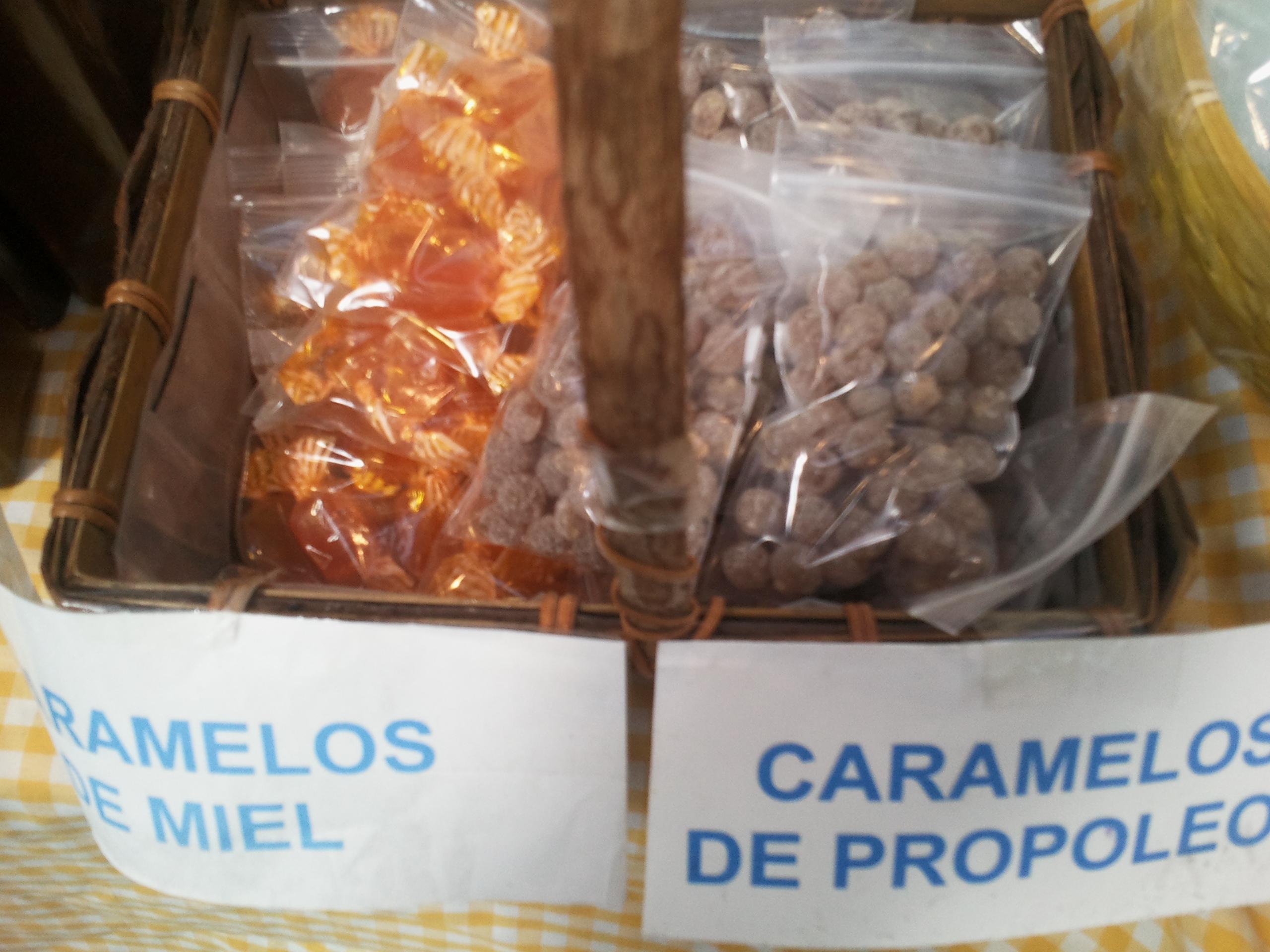 Caramelos de miel y propóleos