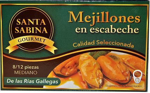 MEJILLONES EN ESCABECHE SANTA SABINA  120Gr