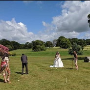 Croquet lawn games hire wedding party event garden party Cornwall Devon Giant Jenga kids adult