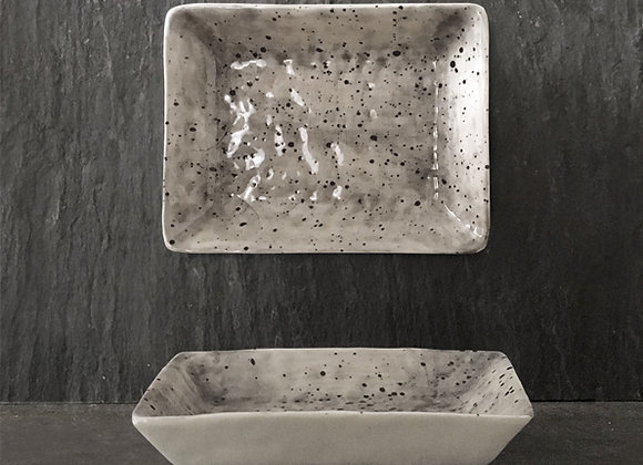Hand Painted Oblong Dish- Speckled