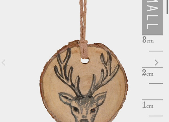 Round Woodland Tag- Stags Head