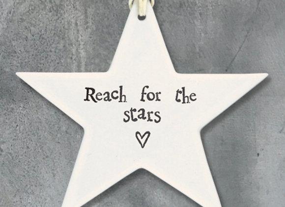 Flat Porcelain Star- Reach For The Stars
