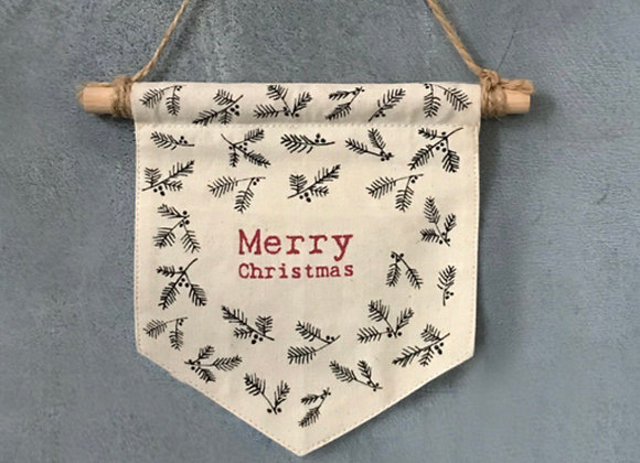 Fabric Pennant- Merry Christmas