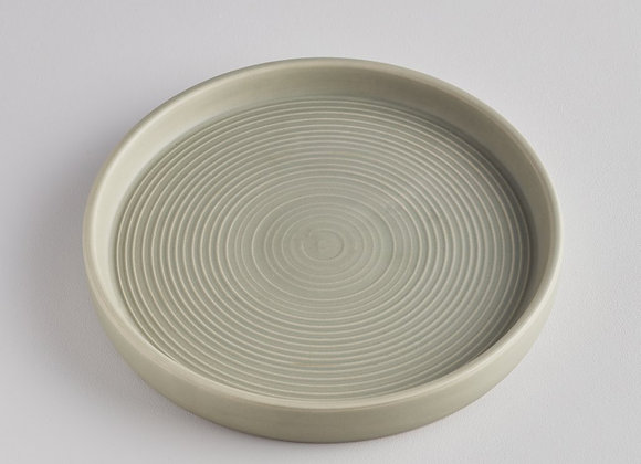 Green/Grey Large Candle Plate