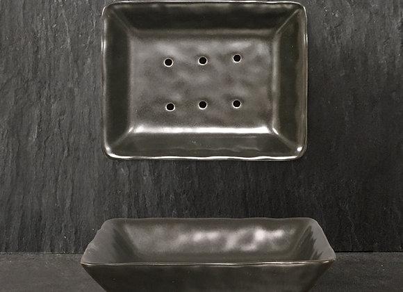 Porcelain Soap Dish- Black