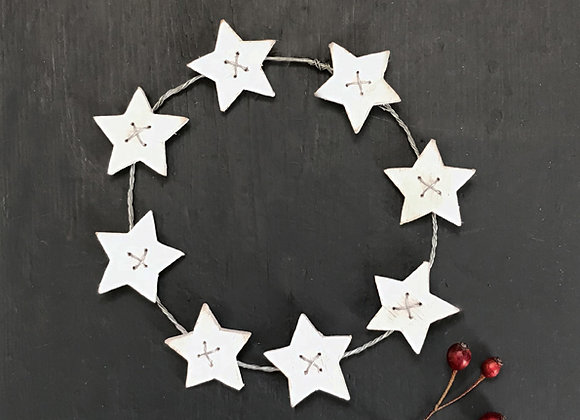 Wooden Star Wreath- Small