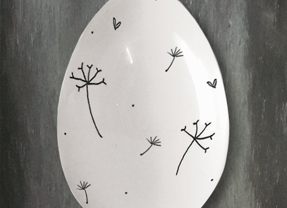Porcelain Egg -Dandelion