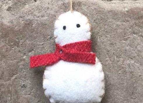 Felt Hanging Snowman
