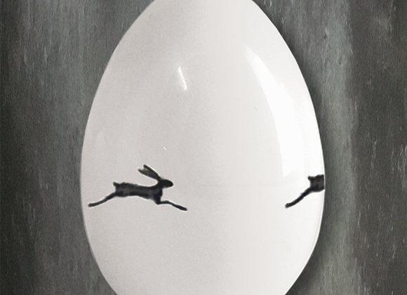 Porcelain Egg -Bunnies