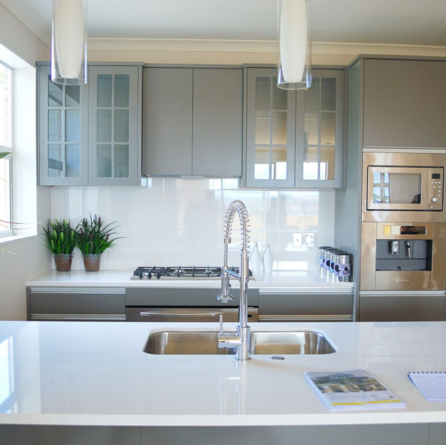 Solid Surface Kitchen with MDF
