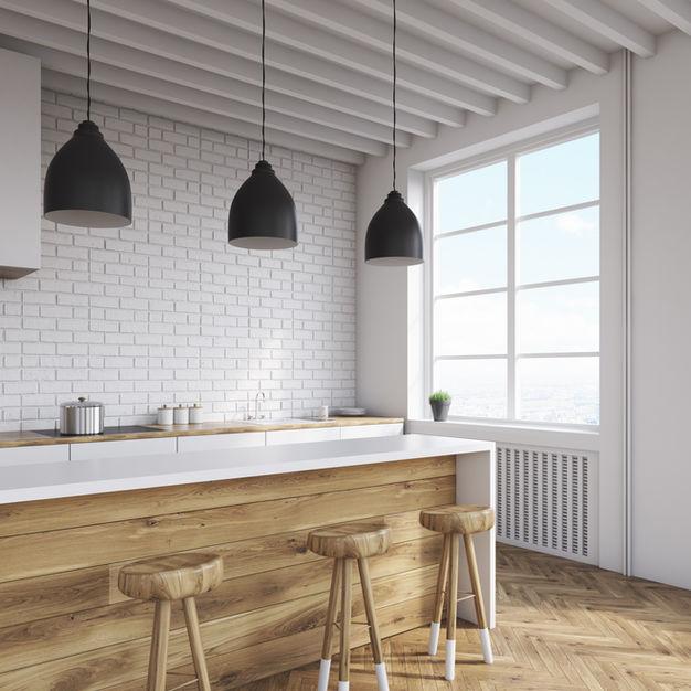 Solid Surface & Woodgrain Laminate Kitchen