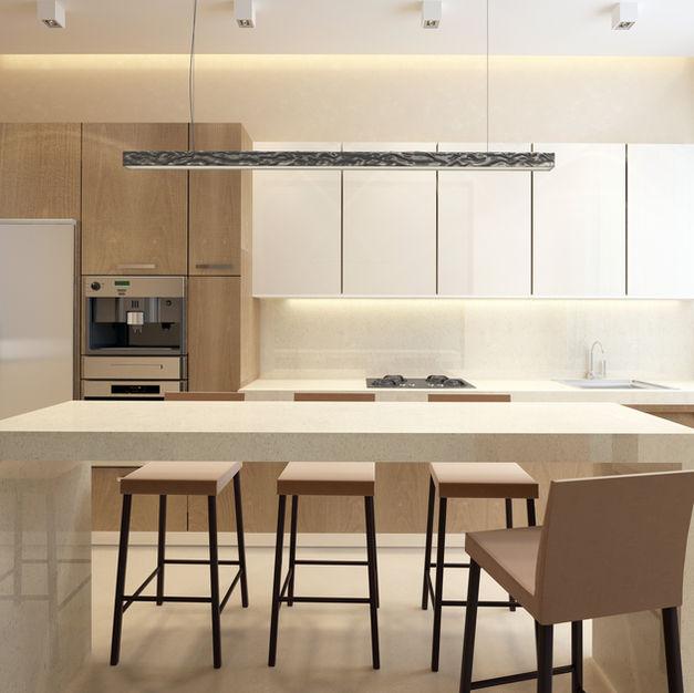 Woodgrain & Gloss White Kitchen