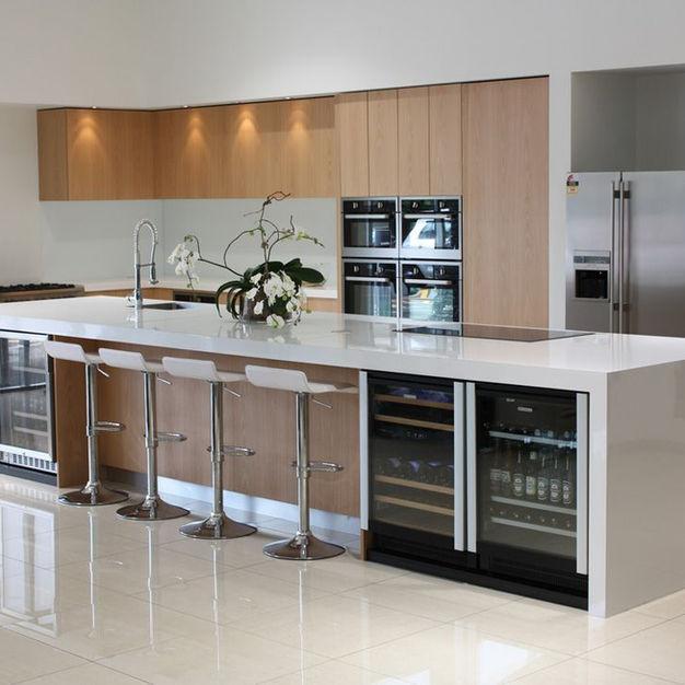 White & Woodgrain Kitchen