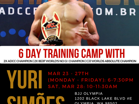 Yuri Simoes 6 day training camp