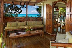 Outdoor Spa Reception Area