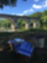 Picnic and plein air on the Dordogne Riv