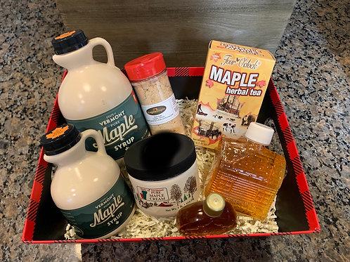 Plaid Maple Basket