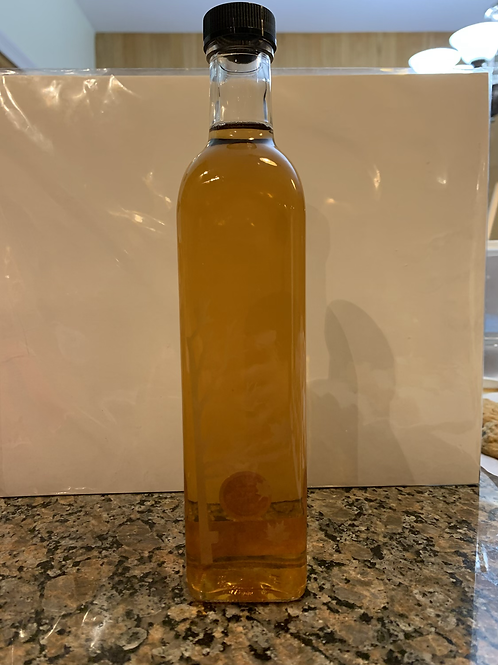 Large Etched Glass Bottle