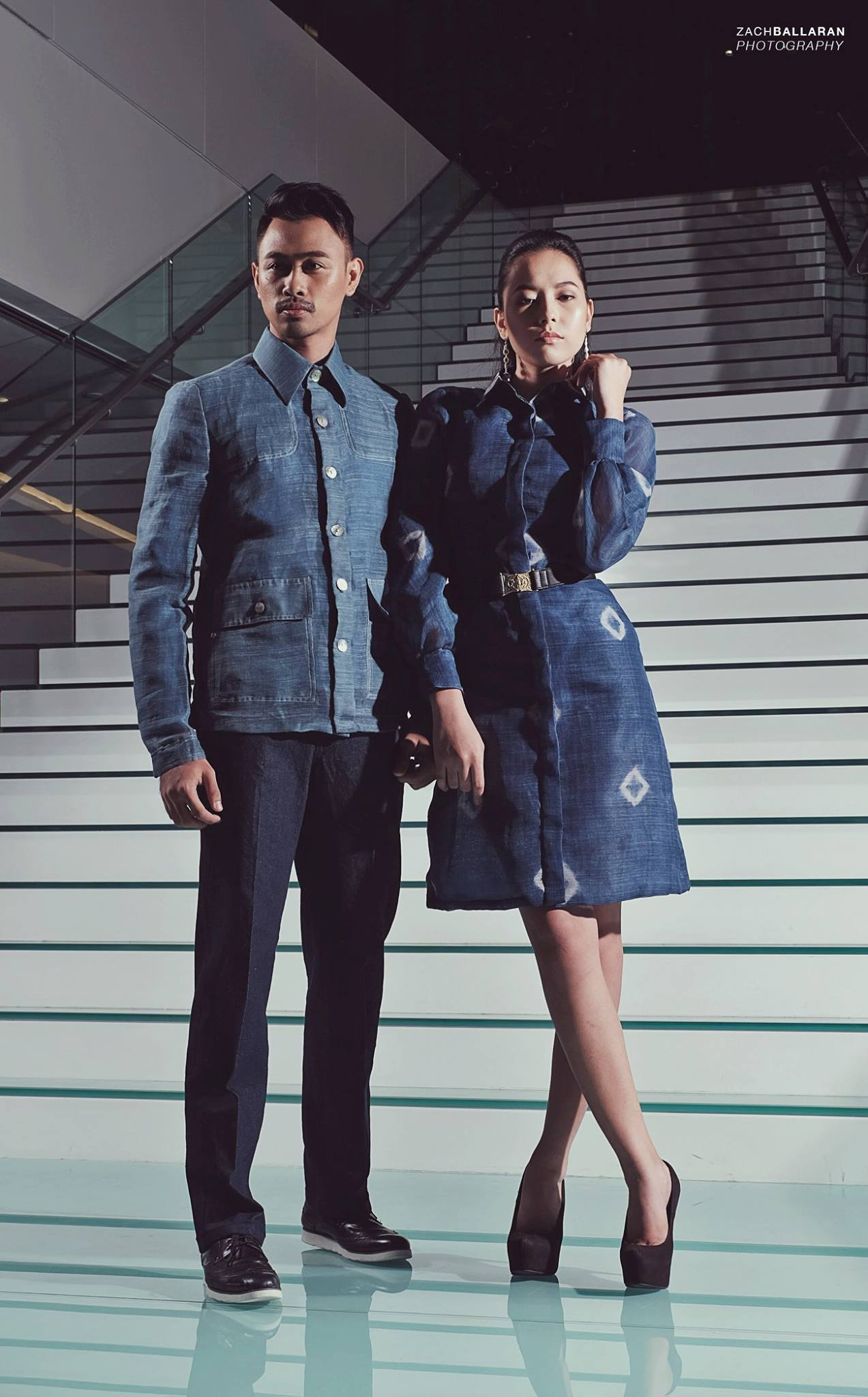 Indigo dyed barong and dress