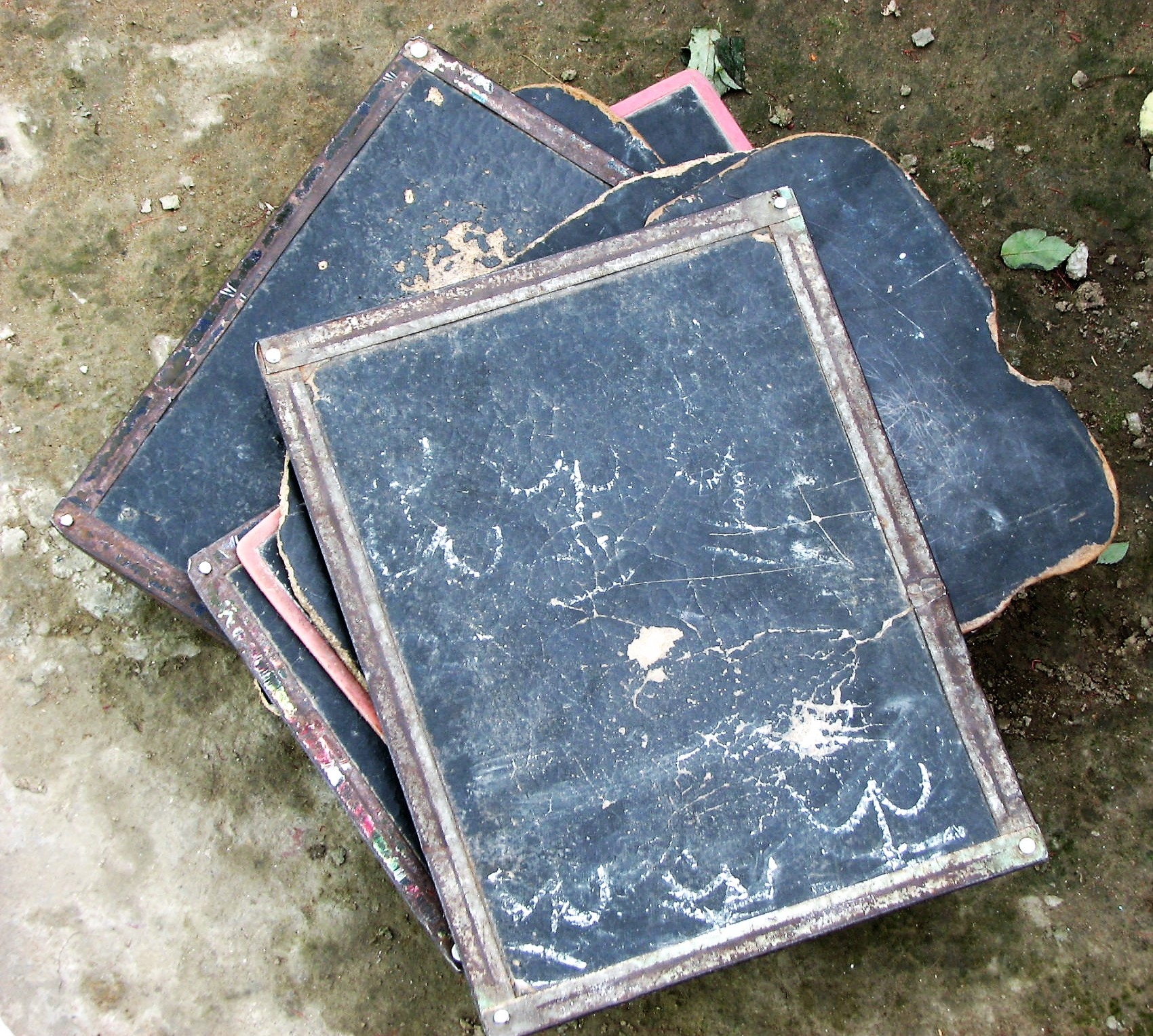 Slates used in Slum Schools.